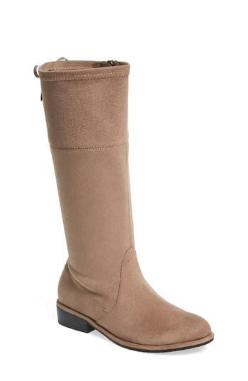 Girl's Stuart Weitzman Lowland Bow Riding Boot, Size 4 M - Grey