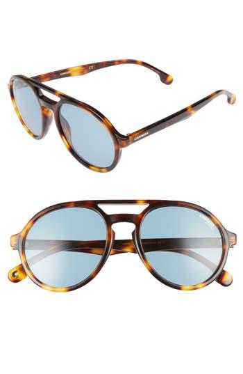 Carrera Eyewear Pace 5m Sunglasses - Light Havana/ Blue Avio