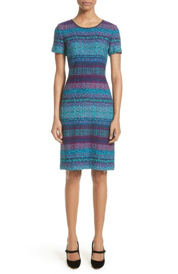 St. John Collection Ellah Knit Dress, Blue