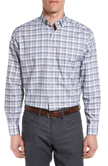 Men's Maker & Company Tailored Fit Windowpane Sport Shirt