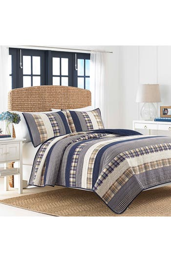 Nautica Rangeley Quilt, Size Twin - Blue