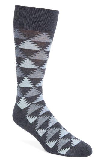 Men's Nordstrom Men's Shop Pyramid Motif Socks