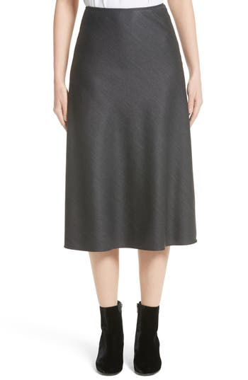 Women's St. John Collection Stretch Birdseye Flare Skirt