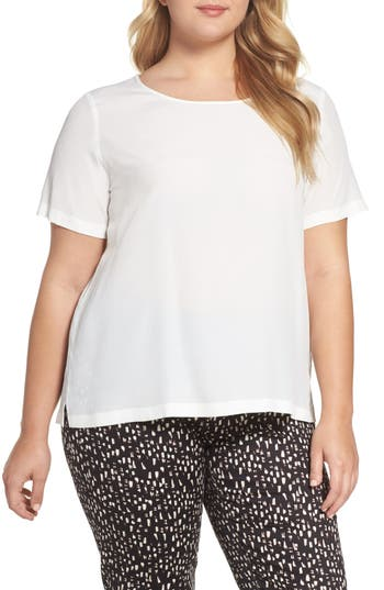 Plus Size Women's Persona By Marina Rinaldi Bambino Crepe Top, Size 16W - White