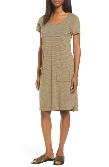 Eileen Fisher Hemp Blend Stripe T-Shirt Dress