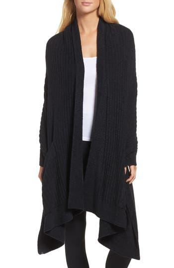 Barefoot Dreams Cozychic Lite Travel Shawl, Size One Size - Black