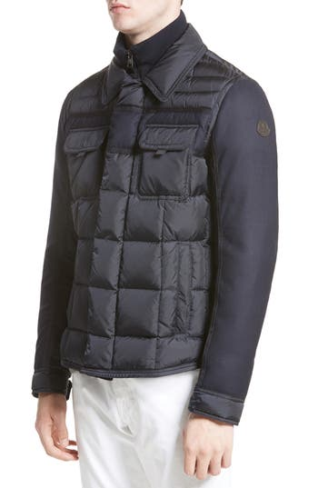 Moncler Blais Down Jacket, Blue