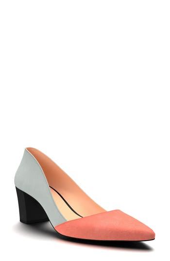 Shoes Of Prey Colorblock Pump, Grey