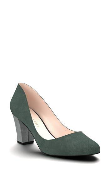 Shoes Of Prey Block Heel Pump - Green