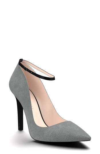 Shoes Of Prey Ankle Strap Pump, Grey