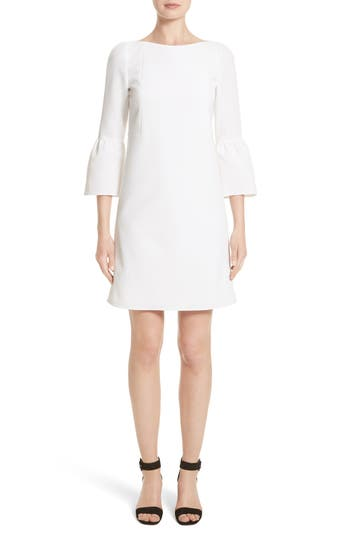 Lafayette 148 New York Marisa Flounce Cuff Shift Dress