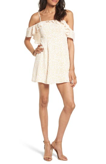 Women's For Love & Lemons Aurora Ruffle Shift Dress, Size Small - White