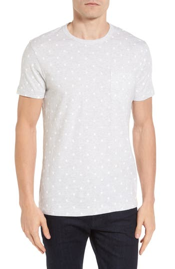 French Connection Polka Dot T-Shirt, Grey