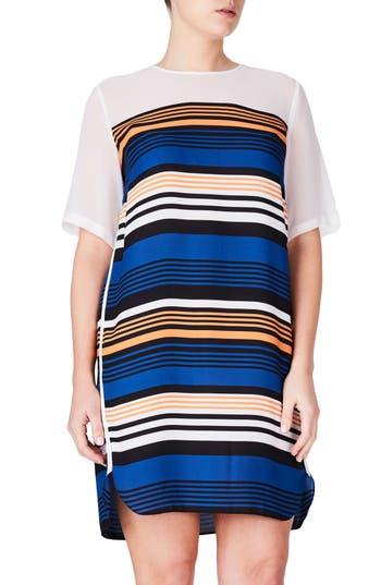 Plus Size Elvi Stripe Shift Dress, W US / 14 UK - Blue