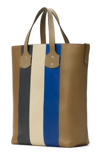Men's Ghurka Broadway Leather Tote Bag - Beige