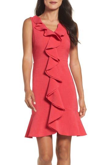 Gabby Skye Ruffle Crepe Dress, Pink