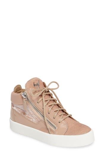 Giuseppe Zanotti Breck Mid Top Sneaker, Pink
