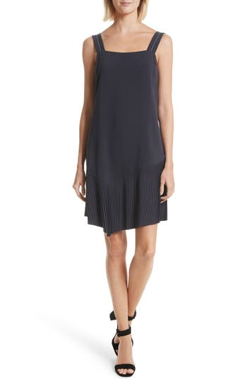 Grey Jason Wu Pleated Tank Dress, Blue