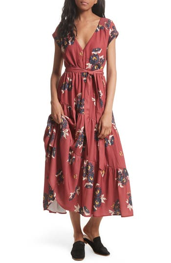 Free People All I Got Maxi Dress, Red