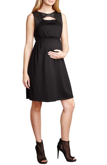 Maternal America Bow Shift Dress, Black