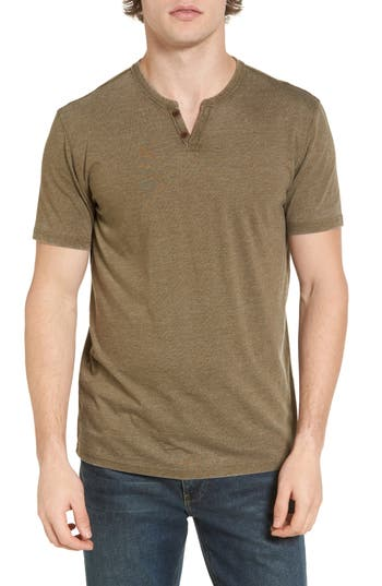 Lucky Brand Burnout Notch Neck T-Shirt