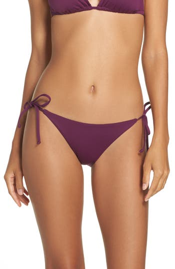 Becca Color Code Side Tie Bikini Bottoms, Purple