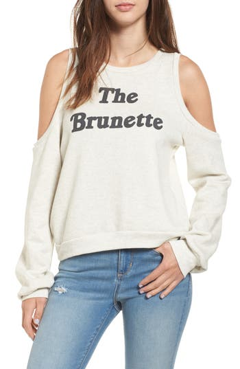 Pst By Project Social T The Brunette Cold Shoulder Sweatshirt