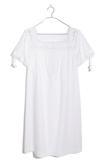 Madewell Eyelet Shift Dress, White