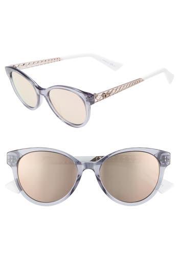 Dior Diorama Mini 52Mm Mirrored Lens Special Fit Sunglasses - Pink/ Blue
