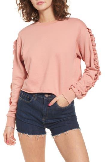 Soprano Ruffle Trim Sweatshirt, Pink