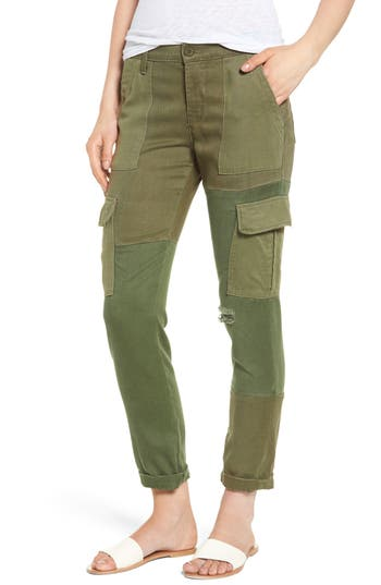 Hudson Jeans Riley Straight Leg Cargo Pants, Green
