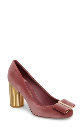 Women's Salvatore Ferragamo Flower Heel Bow Pump