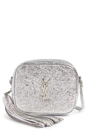 Saint Laurent Monogram Blogger Calfskin Crossbody Bag - Grey