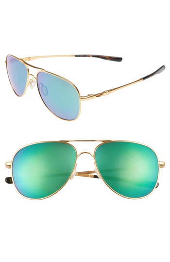 Oakley Elmont 5m Aviator Sunglasses - Gold/ Jade Iridium