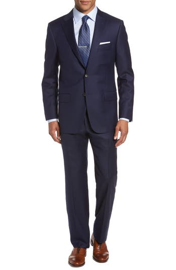 Hickey Freeman Classic B Fit Loro Piana Wool Suit