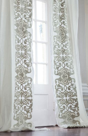 Lili Alessandra Mozart Window Panels, Size One Size - White