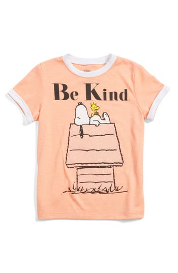 Girl's Mighty Fine Snoopy & Woodstock Be Kind Tee