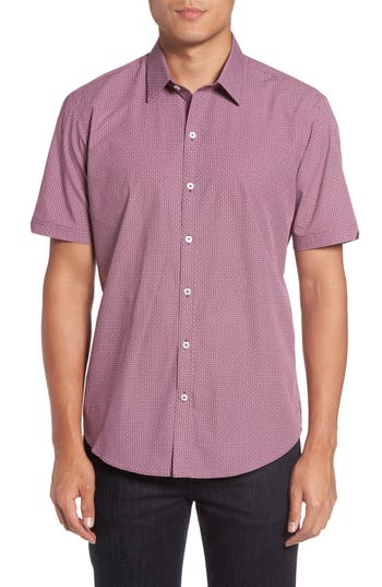 Men's Zachary Prell Riddle Slim Fit Print Sport Shirt