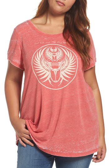 Plus Size Lucky Brand Journey Graphic Tee, Red