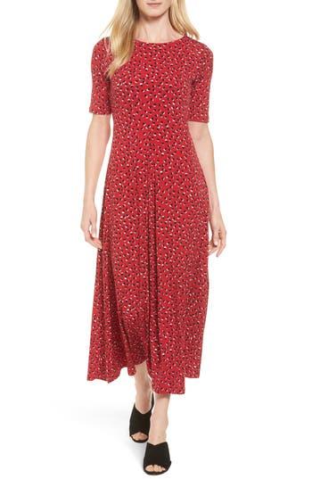 Chaus Dot Print Jersey Maxi Dress