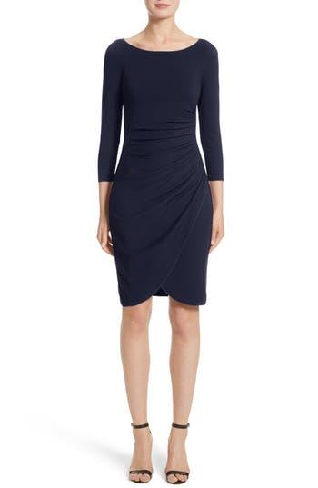 Armani Collezioni Milano Jersey Petal Hem Dress, Blue