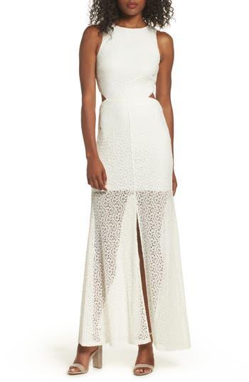 Ali & Jay Crystal Garden Gown, White