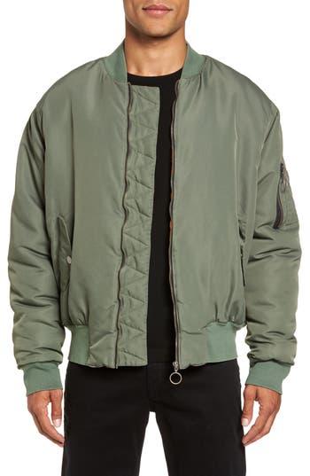 Hudson Jeans Zeke Slim Fit Bomber Jacket, Green