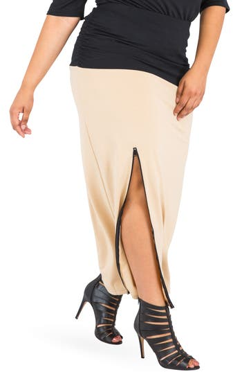 Poetic Justice Kandi Zip Slit Maxi Skirt