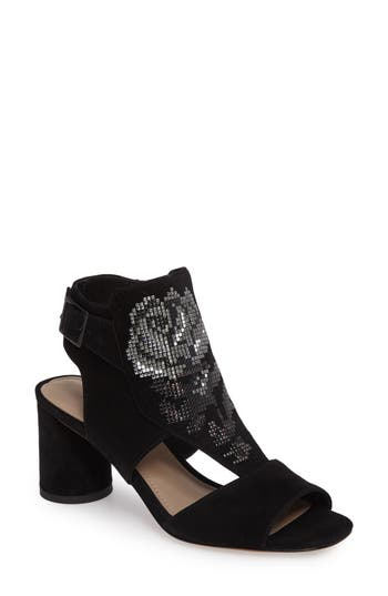 Donald J Pliner Haruna Embellished Bootie Sandal- Black