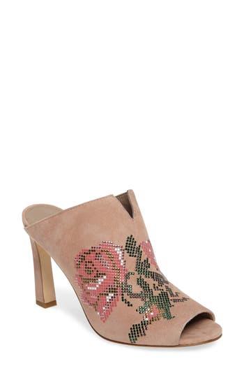 Donald J Pliner Elora Embellished Open-Toe Mule, Pink