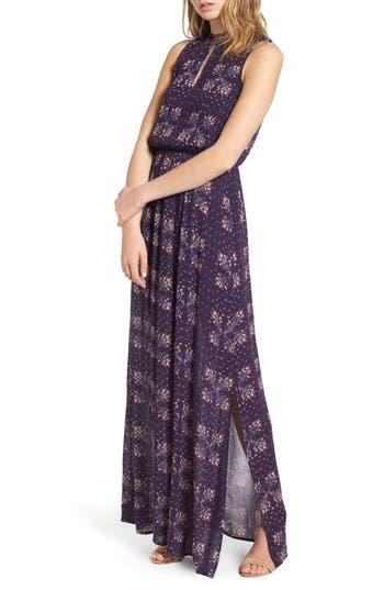 Everly Floral Print Maxi Dress, Blue