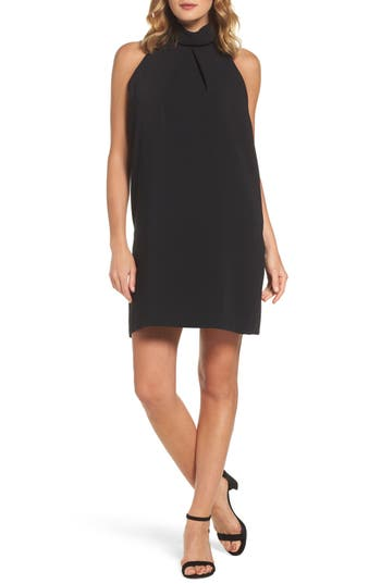 Maggy London Crepe Shift Dress, Black