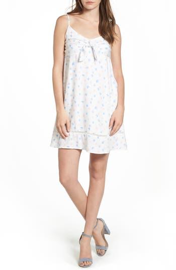 Lush Tie Front Babydoll Dress, White