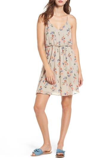 Lush Floral Print Ruffle Back Blouson Dress, Pink